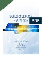 DERECHO DE USO Y HABITACIÓN