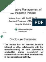 Perioperative Evaluation and Treatment in Pediatrics