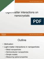 Photoluminescence in Nanoparticles