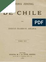 Historia General de Chile T.xiv. Diego Barros Arana