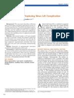 A Perplexing Sinus Lift Complication