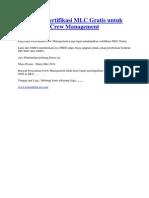 Microsoft Word - Konsultasi Sertifikasi MLC Gratis Untuk Perusahaan Crew Management