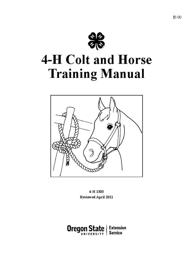 4-H Colt and Horse Training Manual