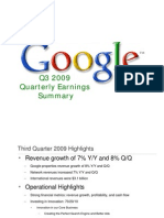 2009Q3 Google Earnings Slides