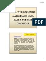 Clase 6 (a) - Caracterizacion de Materiales Para Capas Granulares de Base y Subbase