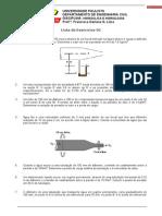 1ª Lista de Hidraulica - 5º Semestre