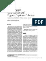 Importancia de La Tradicion Oral Grupo Coyaima