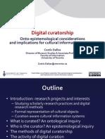 Dallas 2013 - Digital Curatorship