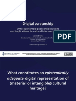Costis Dallas 2013 - Digital Curatorship - Onto-Epistemological Considerations and Implications for Cultural Information Systems