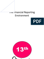 The Financial Reporting Environment