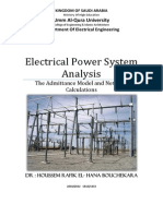 Electrical Power System Analysis 3. the Admittance Model and Network