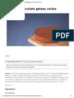 Exploding Chocolate Gateau Recipe - Channel4 - 4Food