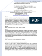 BENOIT,F. ; DENIS, M. enrichir l'évaluation de la durabilité des espaces périurbains