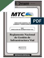 Reglamento Nacional de Gestion de Infraestructura Vial
