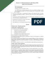 Décret  (20 mars 2013) relatif aux marchés publics