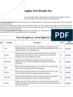Strengths Test Results