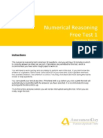 Numerical Reasoning Test1 Questions