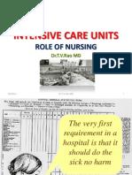 Intensive care Units Role of Nursing