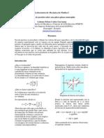 Laboratorio de Mecánica de Fluidos I(fuerza de presion sobre una placa)