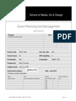 EVNT 1300 - Event Planning & Management - Thornton