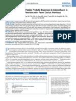 B-Type Natriuretic Peptide Predicts Responses to Indomethacin