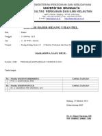 Daftar Hadir Sidang Ujian Pkl Rangkap 2