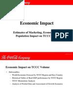 Estimates of Marketing,Economic, And Population Impact on TCCCC Sales
