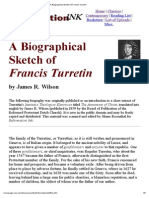 A Biographical Sketch of Francis Turretin