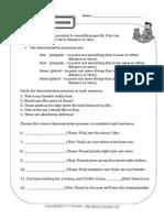 Demostrative Pronouns