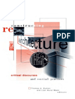 Reconstructing Architecture