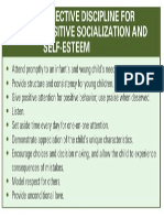 Effective Discipline for Possitive Socialization and Self Esteem