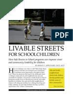 APPLEYARD (Son) Livable Streets for Schoolchildren