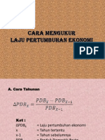 Cara Menghitung Laju Pertumbuhan Ekonomi