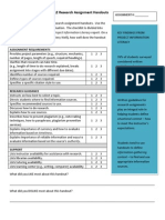 Checklist to Evaluate SAMPLE Research Assignment Handouts