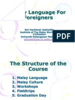 Malay Language for Foreigners
