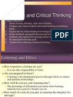 Listening & Critical Thinking