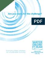 Water Challenge Forum Program
