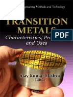 Transition Metals. Characteristics, Properties and Uses