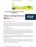 Sg.news.Yahoo.com 5 Ways Cut Sugar Diet 074558268