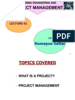 Lec 01 project management