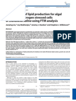 Optimization of Lipid Production for Algal