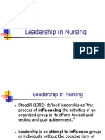 Leadership in Nursing Nursing Administration Ppt