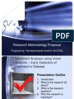 Sentiment Analysis - Voice Analysis for PD Detection