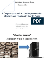 A corpus approach to the representation of Islam and Muslims in the UK press