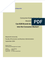 1. Consumer Evaluations of Brand Extentions B2B to B2C
