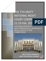 The 7th Amity National Moot Court Competition 100