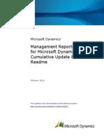 Management Reporter 2012 for Microsoft Dynamics™ ERP.