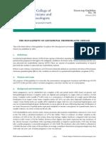 Management penyakit trofoblas guideline