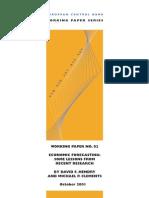 SSRN-id356241EconomicForecastingLessonsL