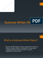 Business Written Report